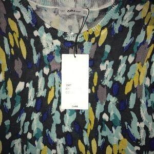 Zara Watercolor Knit Top